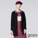 gozo 自信展現立領款棒球長版外套 (二色)-動態show