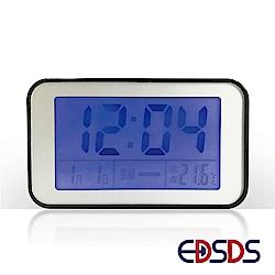愛迪生 聲控感應背光LED語音報時電子鬧鐘