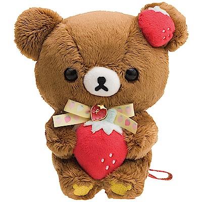 拉拉熊草苺派對系列毛絨公仔。蜂蜜小熊 San-X