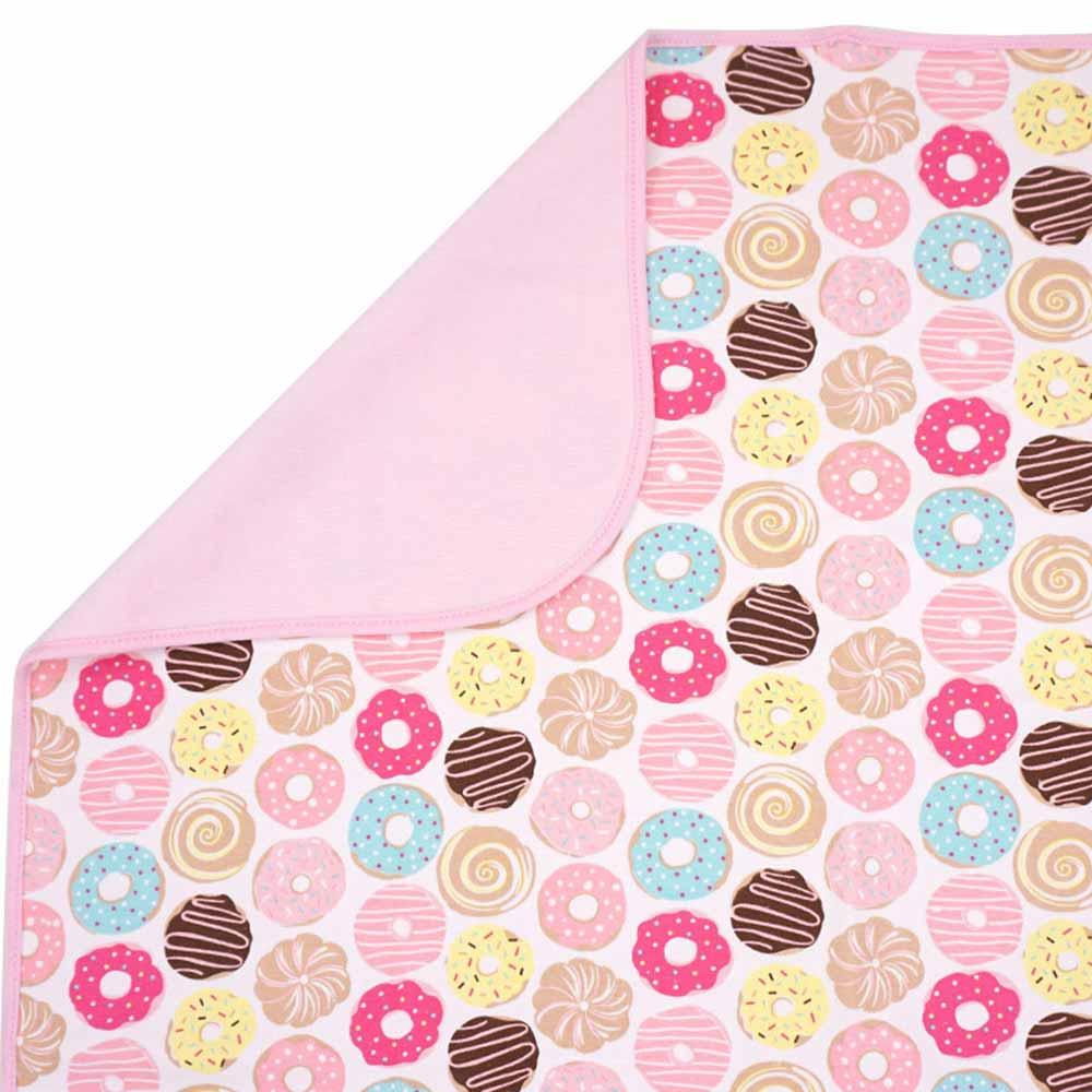 Baby unicorn粉紅甜甜圈多功能防水隔尿墊野餐墊