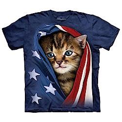 摩達客 美國進口The Mountain 愛國小貓 純棉環保短袖T恤