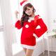 聖誕服 愛在聖誕 耶誕舞會角色扮演表演服(紅