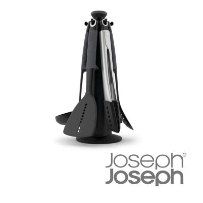 Joseph Joseph 不沾桌鏟杓餐夾6件組-附架(灰)