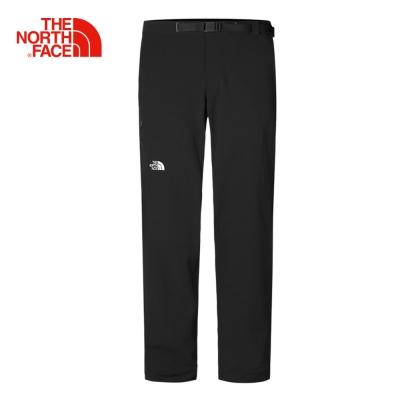 The North Face北面男款黑色防風防潑水戶外運動褲