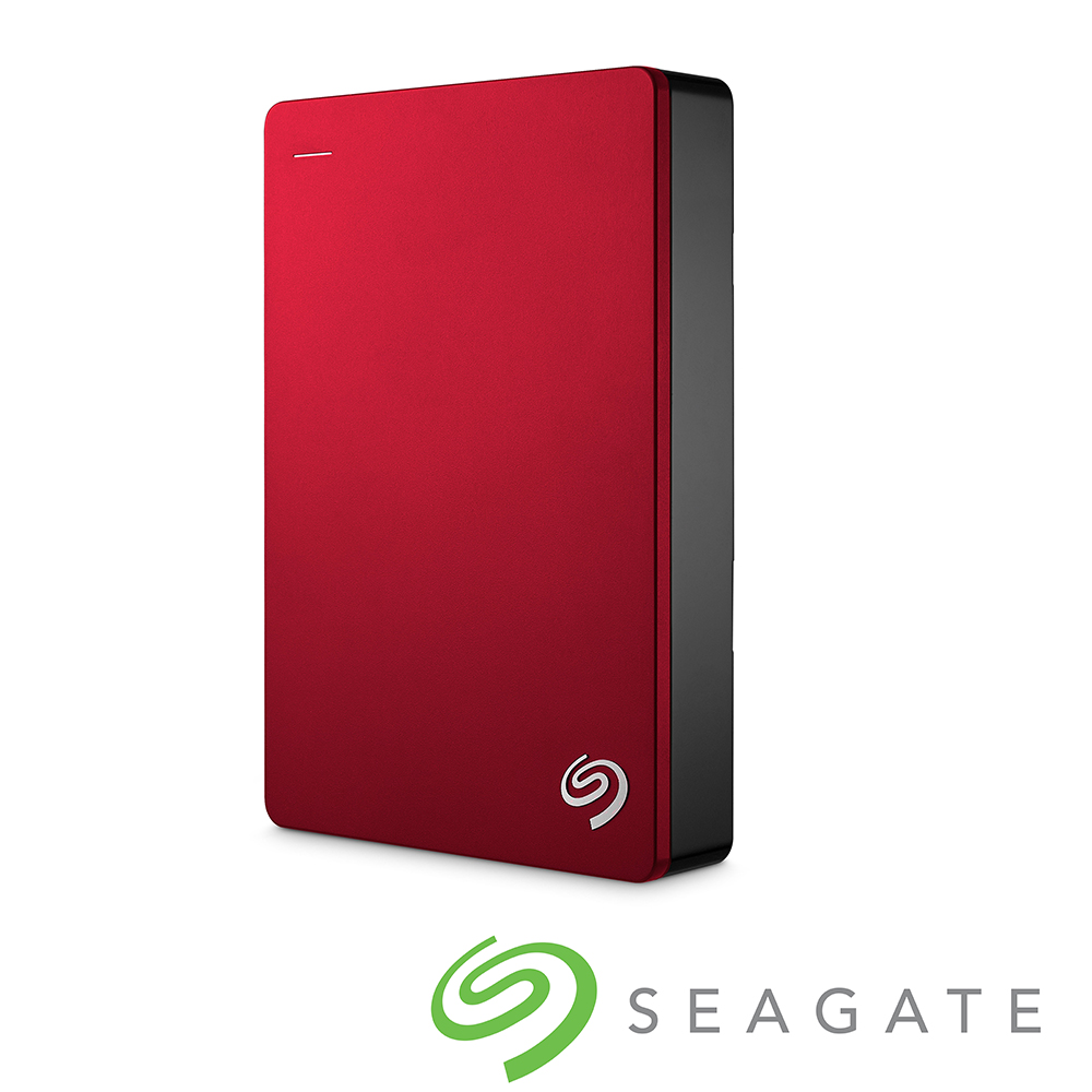 Seagate Backup Plus 4TB USB3.0 2.5吋行動硬碟-紅色