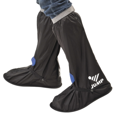 JUMP 將門 安全尼龍反光鞋套L001(黑藍_M~3XL)