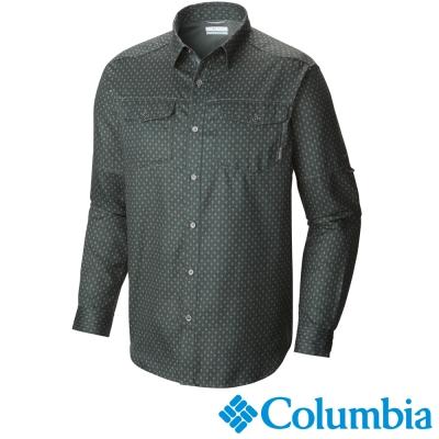 【Columbia哥倫比亞】男-快排長袖襯衫-綠色 UAO11800GG