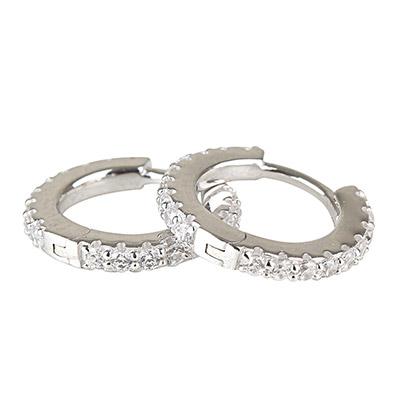 apm MONACO PROMESSE系列晶鑽鑲飾經典純銀小耳環(銀)
