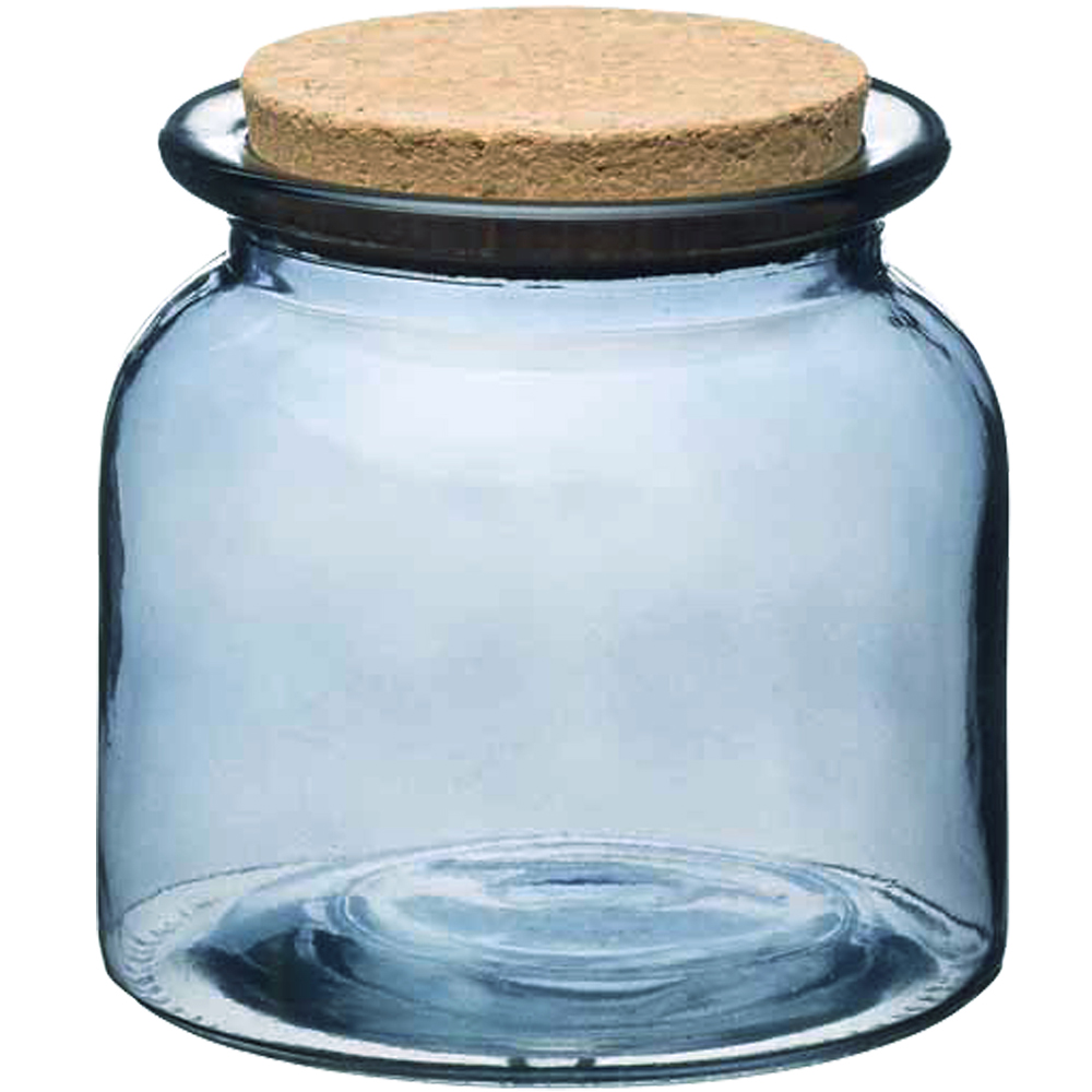 KitchenCraft 軟木蓋玻璃收納罐(透藍600ml)