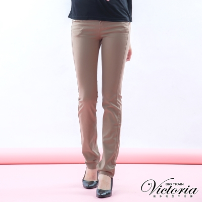 Victoria 基本斜紋小直筒褲-女-可可