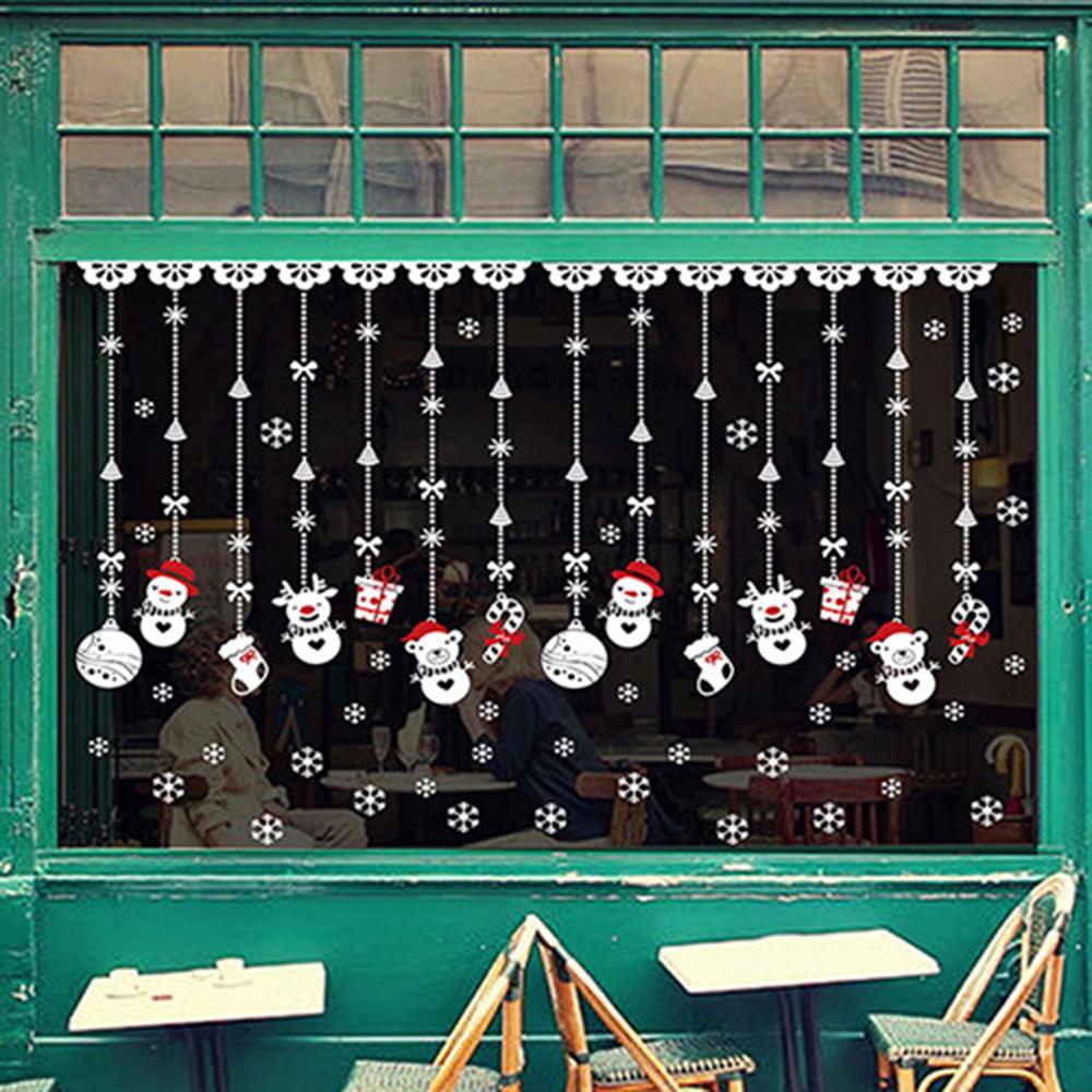 時尚壁貼 - 聖誕雪人吊飾