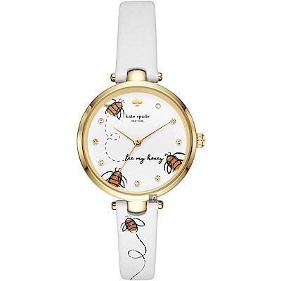 Kate Spade NEW YORK 小蜜蜂嗡嗡嗡手錶-34mm