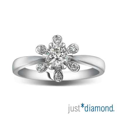 Just Diamond 水漾女人系列18K金鑽石戒指