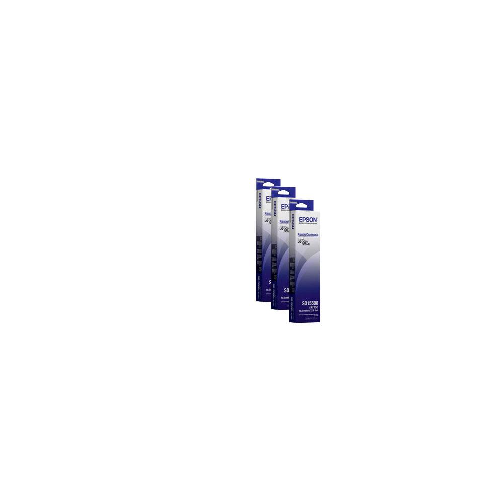 EPSON S015523黑色色帶(三入)