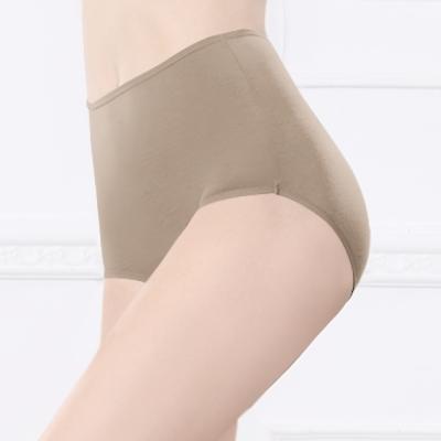 台灣製安心健康蠶絲蛋白高腰透氣呵護型 M-2XL 內褲 貴族褐 可蘭霓Clany