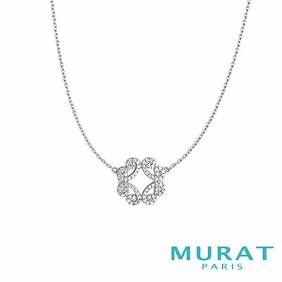 MURAT Paris米哈巴黎 典雅花形滿鑽項鍊