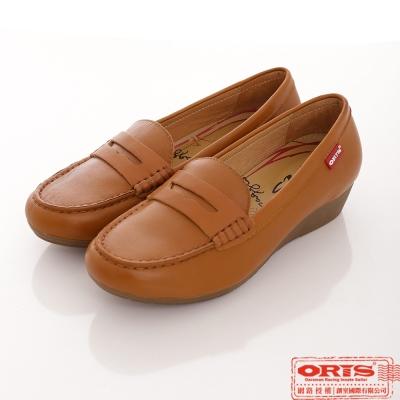 ORIS 女款 真皮 舒適 優雅純樸超柔軟休閒鞋~咖啡