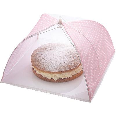 Sweetly 粉點蕾絲桌罩(41cm)