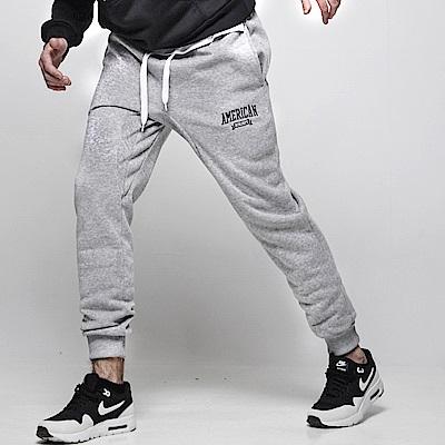 DITION 美式電繡小標JOGGER低檔縮口棉褲 螺紋束口褲