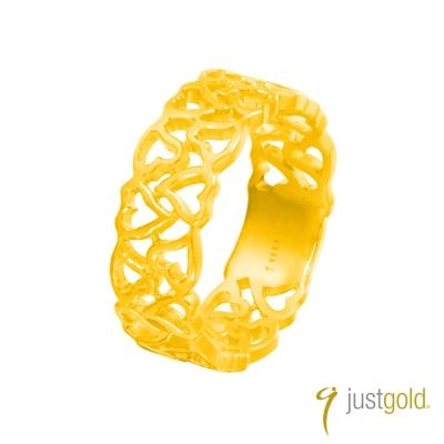 鎮金店Just Gold熱愛系列(純金)-黃金尾戒