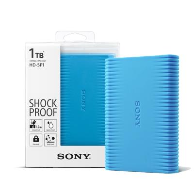 SONY 1TB USB3.0 2.5吋亮彩防震硬碟 (HD-SP1)-天空藍