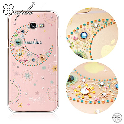 apbs Samsung A、J、C系列 施華洛世奇彩鑽手機殼-星月透明