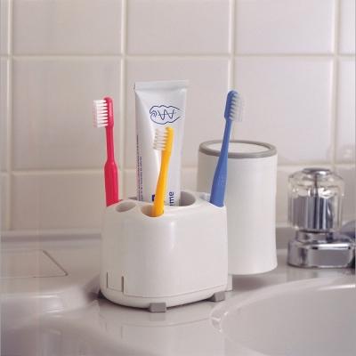 日本LEC可拆洗防滑底座牙刷架2入裝