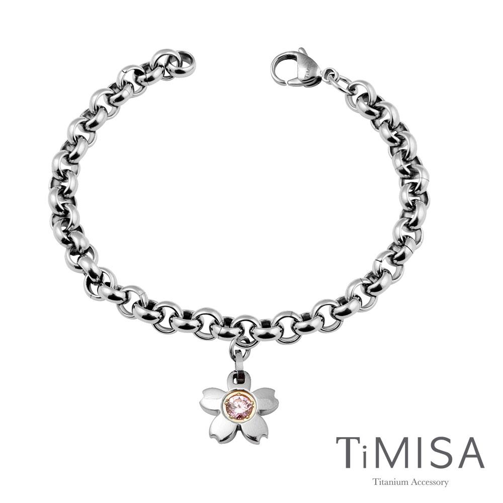 TiMISA《櫻花之戀(M)》純鈦手鍊(三色可選)