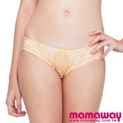Mamaway-雙色千鳥格蕾絲內褲-共二色