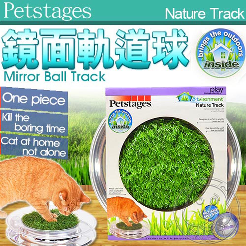 美國Petstages》739翠綠草皮鏡面軌道球