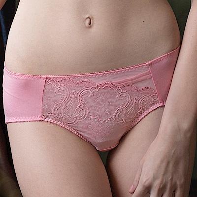 華歌爾 側魔翼提托系列 M-2L 中腰三角褲(玫瑰粉)包臀透氣