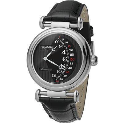 epos Originale 原創系列雙逆跳限量機械腕錶-黑/42mm