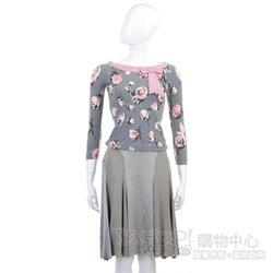 BLUMARINE 銀灰色緞面絲質裙