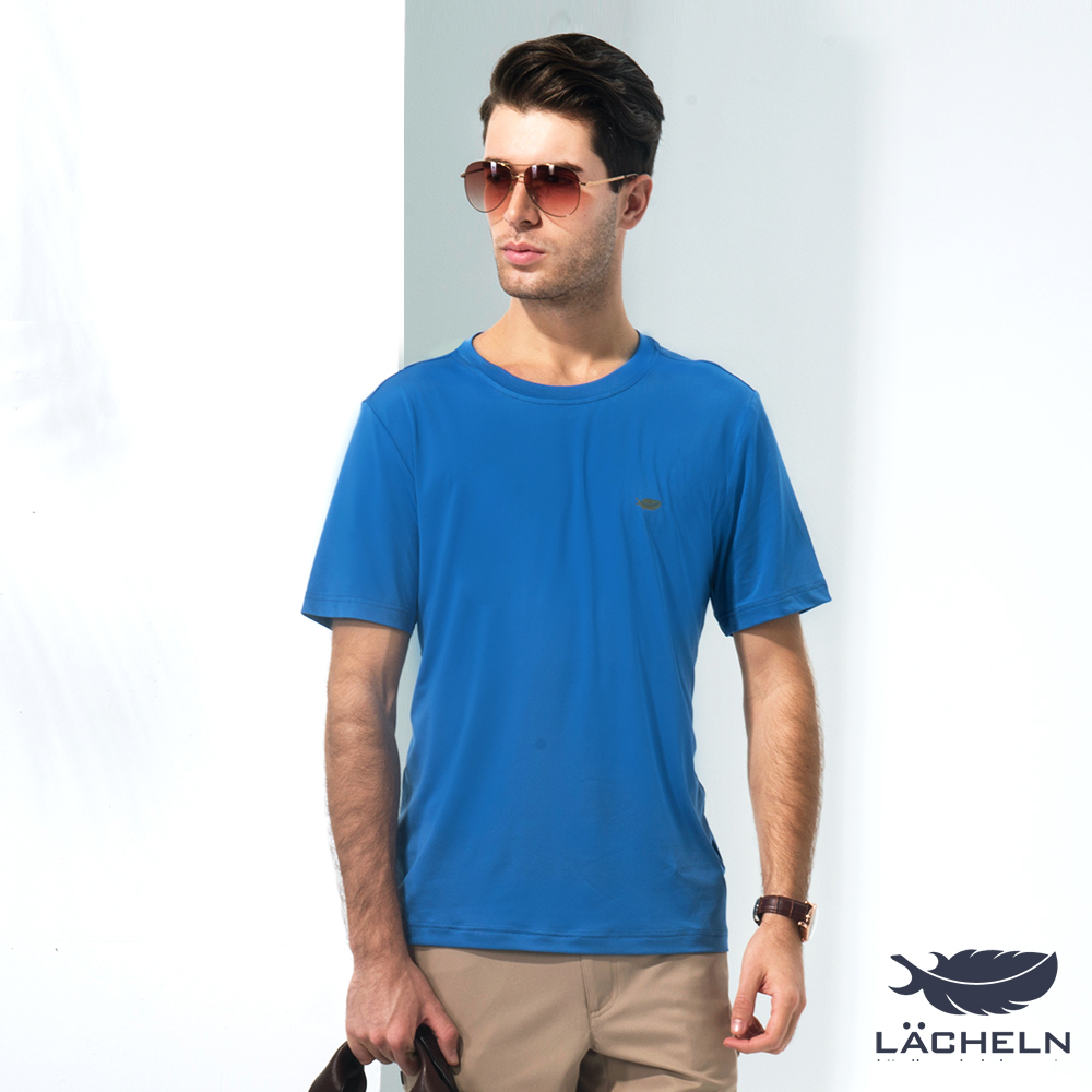 【LACHELN】COOLMAX彈性圓領衫-埃及藍(L62MA04)
