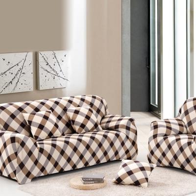 日創優品 超舒適彈性-格菱風情彈性沙發套 -三人沙發套-3人座