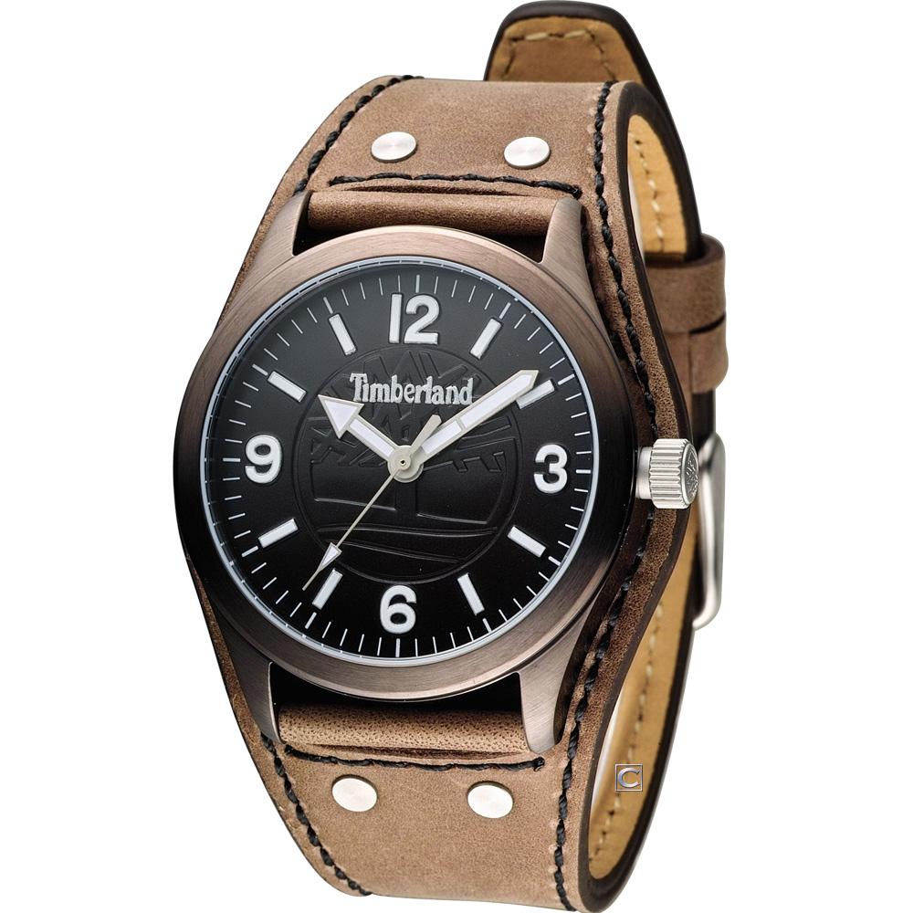 Timberland 男爵品味概念時尚腕錶-咖啡色/41mm