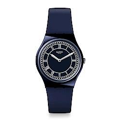 Swatch 英倫風情 BLUE BEN 藍色大笨鐘手錶-34mm