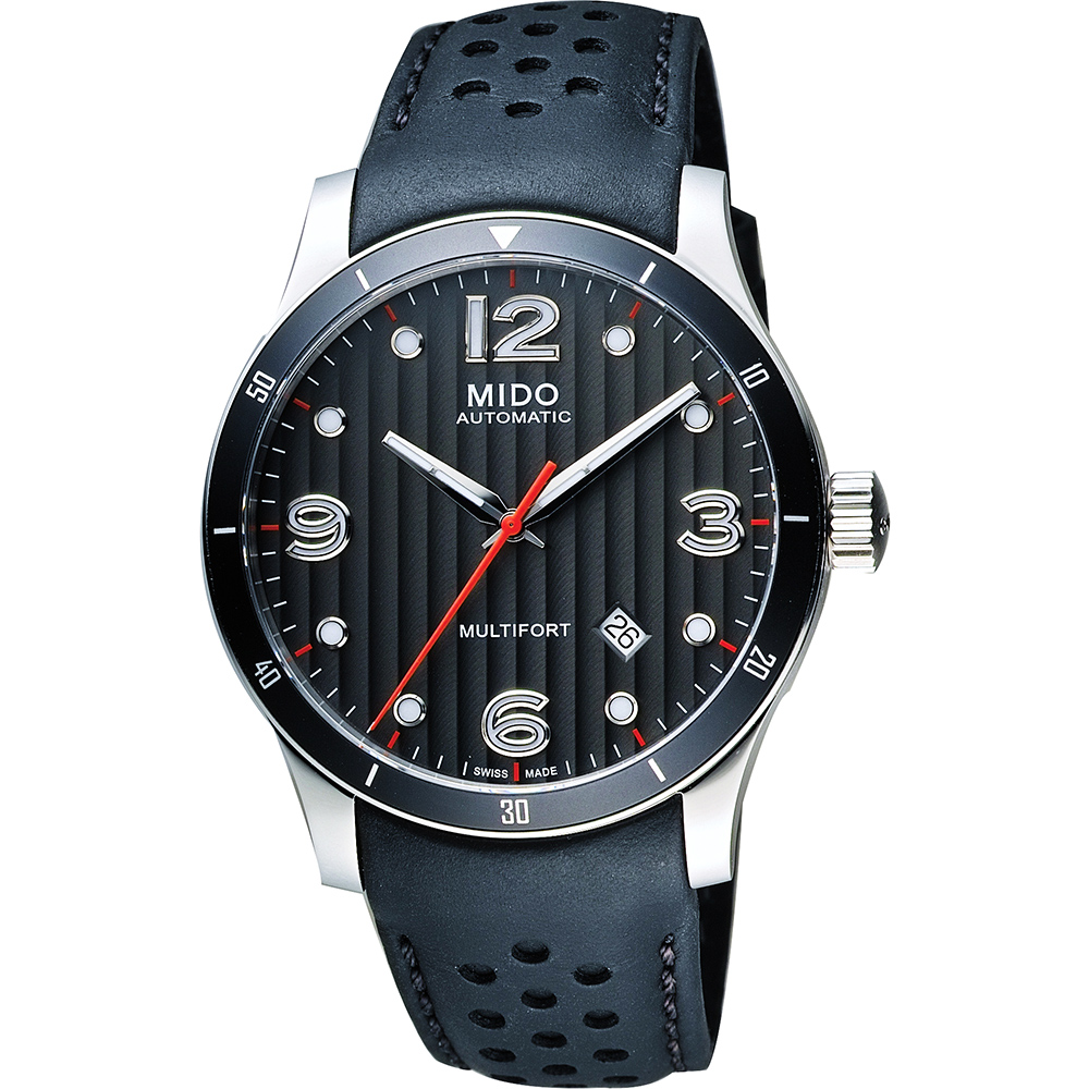 MIDO Multifort 先鋒系列時尚機械腕錶-鐵灰x黑/42mm