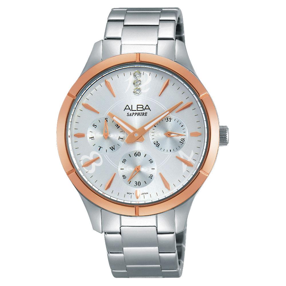 ALBA Fashion Lady 時尚俏女孩晶鑽腕錶(AP6446X1)-銀/36mm