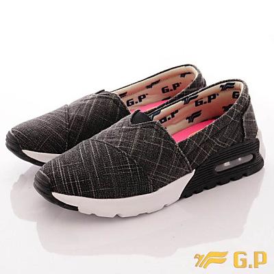 GP時尚潮流-氣墊舒適便鞋款-FI719W-10黑(女段)