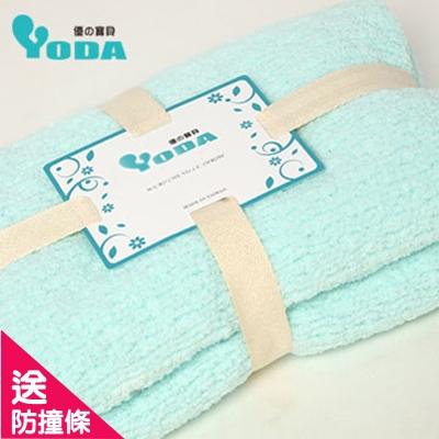 YoDa 輕柔嬰幼童纖柔毯-粉綠色(大)