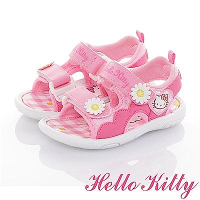 HelloKitty 花朵系列 輕量減壓休閒涼鞋童鞋-粉