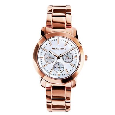 RELAX TIME R0800系列 三眼腕錶(R0800-16-51)-白貝殼/36mm