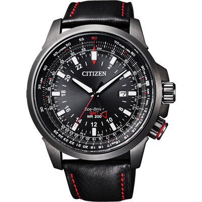 CITIZEN Promaster GMT光動能極限挑戰腕錶(BJ7076-00E)-45mm