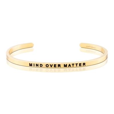 MANTRABAND Mind Over Matter 心智力量超越一切障礙 金色手環
