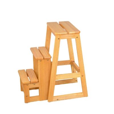 Bernice-可羅實木三層收合樓梯椅-38x58x64cm