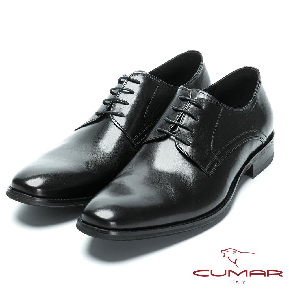 CUMAR歐風品味 時尚綁帶牛皮皮鞋-黑色 @ Y!購物