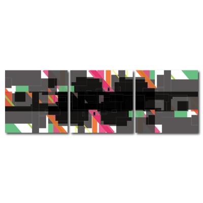 123點點貼- 三聯式無痕創意壁貼 -水西之王30*30cm