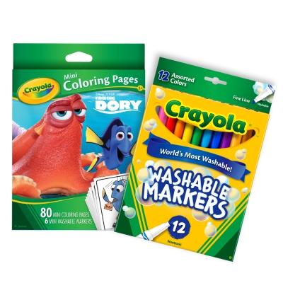 美國crayola海底總動員迷你著色套組3Y