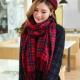 紋保暖圍巾